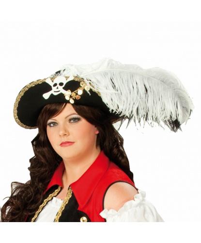 Женская пиратская шляпа с пером (Германия)