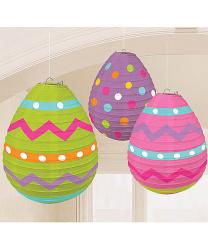 Бумажные фонарики в виде пасхальных яиц
