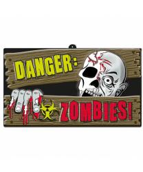 """Табличка """"Осторожно: зомби!"""""""