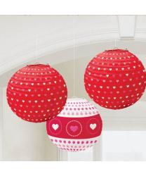 Бумажные фонарики на день Святого Валентина
