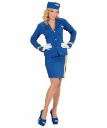 Синяя униформа стюардессы БЕЗ пилотки