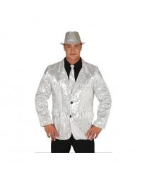Серебряный пиджак с пайетками