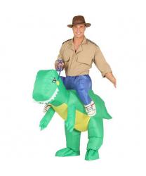 Костюм-наездник на динозавре