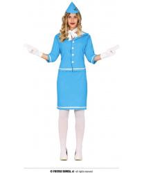 Голубая униформа стюардессы