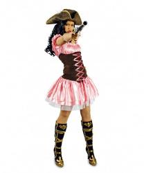 Пиратское розовое платье