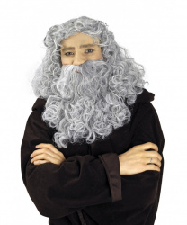 Парик Мерлина (серебристо-серый с бородой)