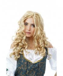 Парик блондинки с длинными волнистыми волосами