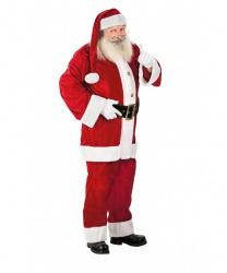 Бархатный костюм Санта Клауса