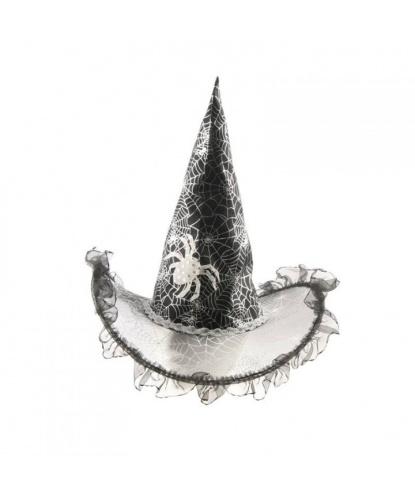 Колпак ведьмы с серебряной паутиной детский (Германия)