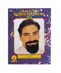Гладкая борода и усы