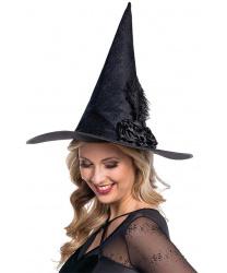 Колпак ведьмы с черным пером