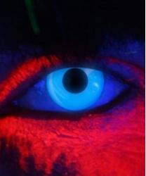 Линзы синие светятся в УФ, без диоптрий, срок ношения 90 дней (Англия)
