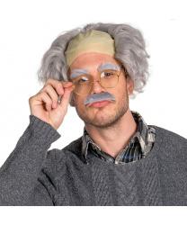 Седой парик с лысиной