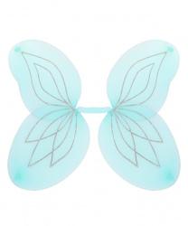 Голубые крылья с серебряными блестками