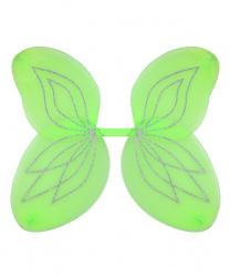 Ярко-зеленые крылья с серебряными блестками