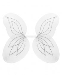 Белые крылья с серебряными блестками