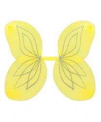 Желтые крылья с серебряными блестками