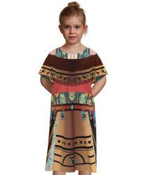 Платье девочки индианки