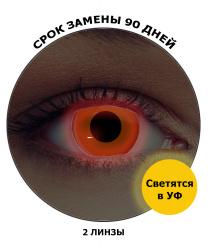 Линзы оранжевые светятся в УФ