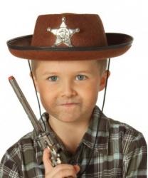 Детская коричневая шляпа шерифа