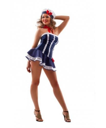 Эротическй костюм морячки: платье, головной убор (Китай)