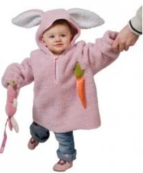 Розовый костюм кролика для малышей