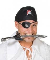Черная пиратская бандана с черепом