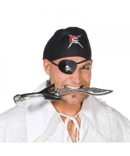 Черная пиратская бандана с черепом (Германия)