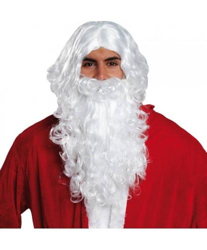 Седые борода и парик Санта Клауса (Германия)
