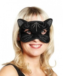 Маска черной кошки
