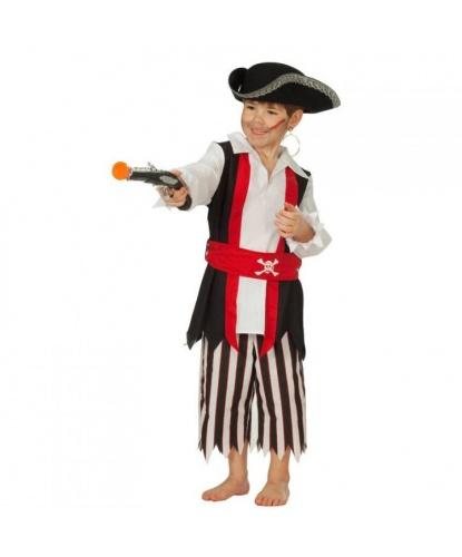 Костюм пирата для мальчика: брюки, пояс, рубашка с вшитой жилеткой (Германия)