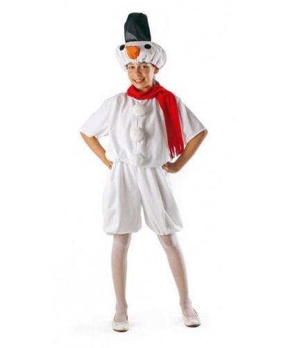 Детский костюм снеговика (уцененный товар): шорты, кофта, головной убор, шарф (Польша)