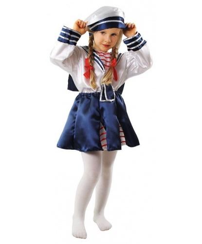 Костюм морячки (детский): головной убор, рубашка, юбка (Польша)