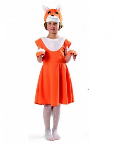 Платье лисички: перчатки, платье, шапочка (Польша)