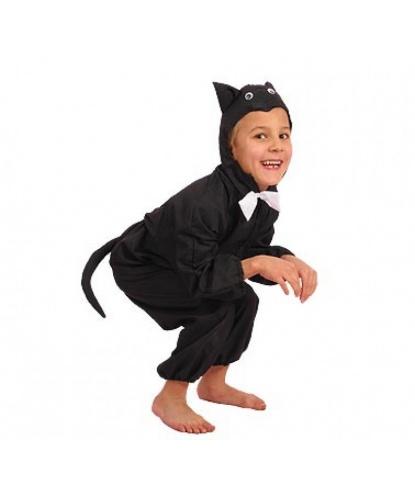 Костюм черного кота: капюшон, комбинезон (Польша)