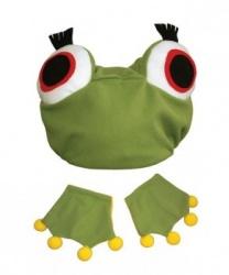 Набор лягушки (шапочка и манжеты)