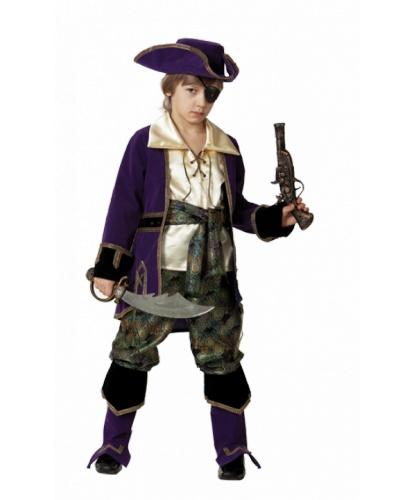 Костюм Капитан пиратов: бандана, брюки с сапогами, камзол, мушкет, наглазник, пояс, рубашка, сабля, шляпа (Россия)