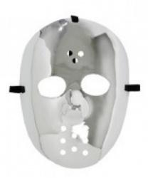 Хоккейная маска серебряная