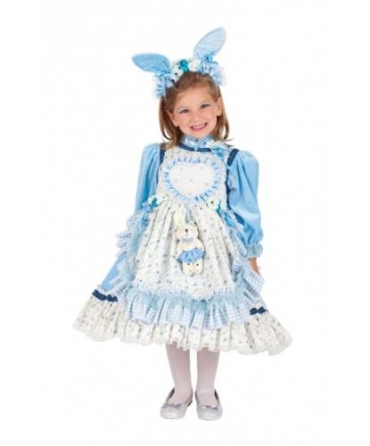 Костюм юной Алисы: ободок на голову, платье (Италия)