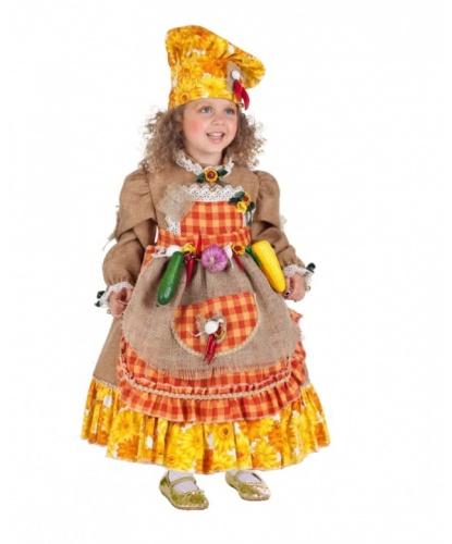 Костюм Осень: платье, фартук, шляпа (Италия)