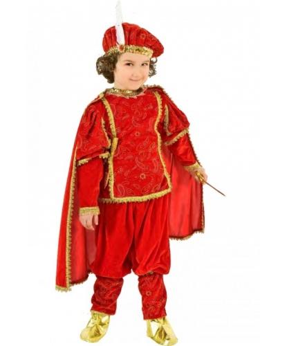 Костюм принца: головной убор, кофта, мантия, накладки на туфли, штаны (Италия)