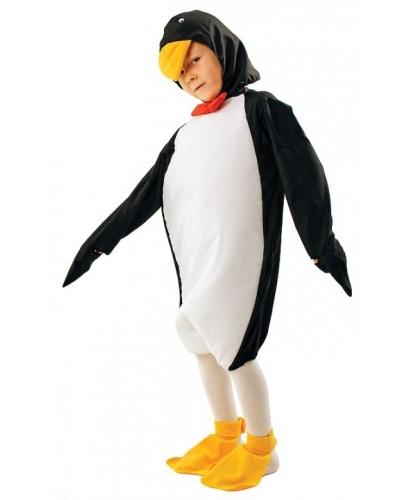 Костюм пингвина (детский): комбинезон, накладки на туфли, шапка (Польша)