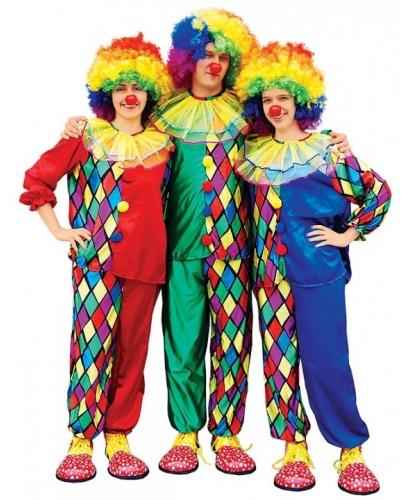 Взрослый костюм для клоуна: брюки, рубашка (Польша)