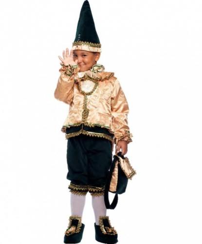 Костюм Пиноккио: бриджи, головной убор, накладка на сапоги, пиджак, портфель, рубашка, гольфы (Италия)