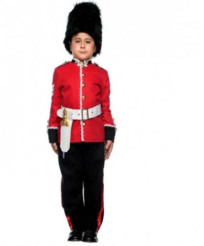Костюм английского гвардейца: брюки, китель, пояс, шапка (Италия)