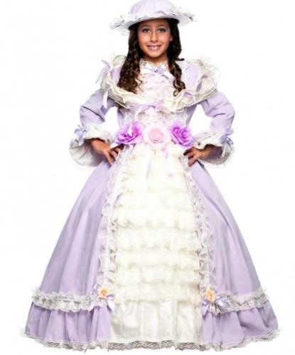 Костюм придворной дамы для девочки: платье, шляпа (Италия)