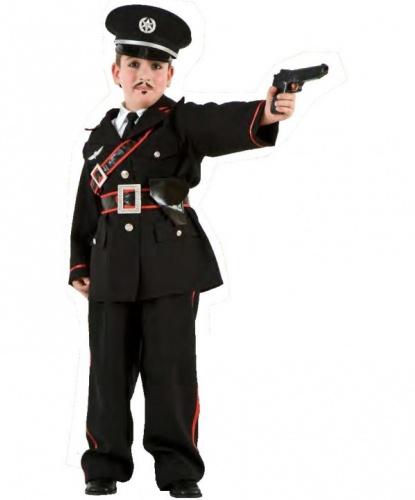 Детский костюм итальянского полицейского: брюки, галстук, китель, пояс, фуражка, рубашка без рукавов (Италия)