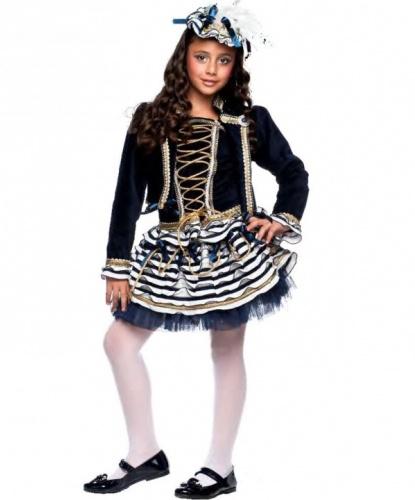 Детский костюм Морячка: головной убор, жакет, корсет, юбка (Италия)