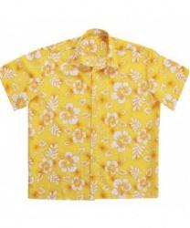 Гавайская рубашка желтая