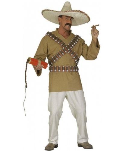 Костюм Мексиканец: брюки, пояс, рубашка (с пришитой лентой с патронами) (Италия)